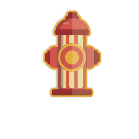fire plug: Illustration of a fire hydrant