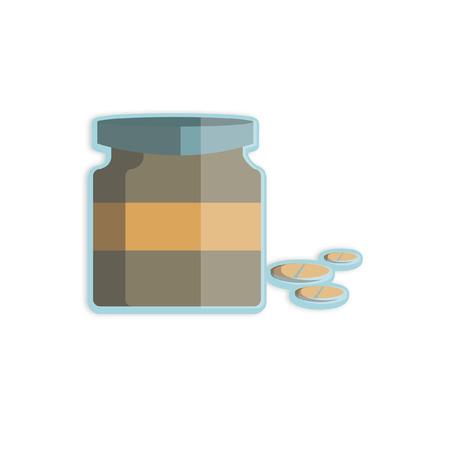 pill bottle: Illustration of pill bottle