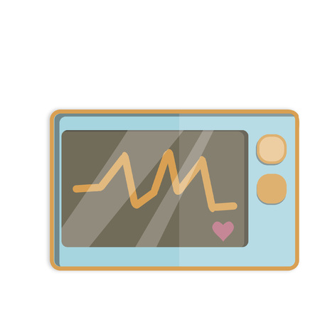Illustration of an electrocardiograph