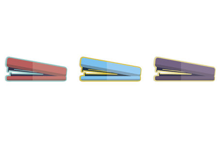 Illustration of three staplers Çizim