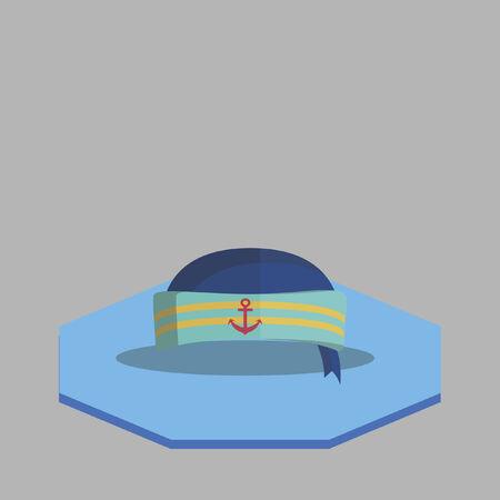 Illustration of a sailor hat Illustration