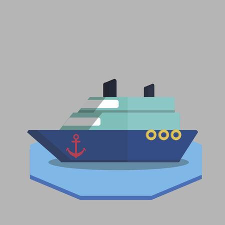 海洋船のイラスト