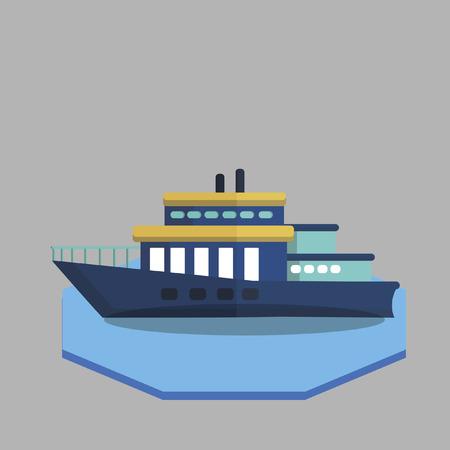 Illustration of a ferry Illusztráció