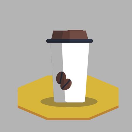 Illustration of coffee in disposable cup Illusztráció