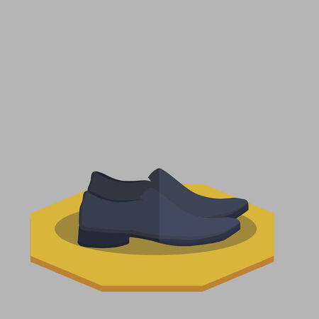 Illustration of mans shoes