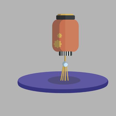 伝統的な提灯のイラスト