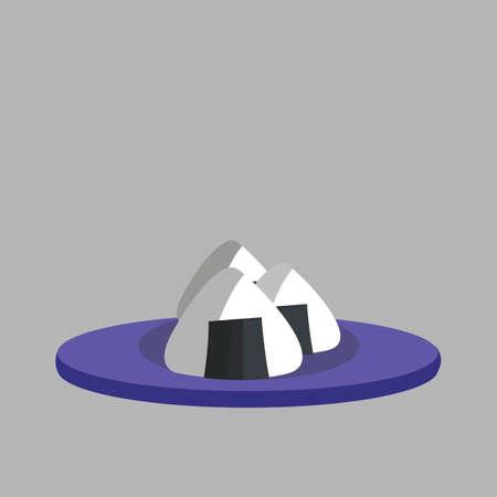 Illustration of Japanese triangle maki 向量圖像