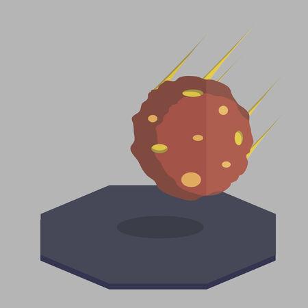 Vector of a meteor