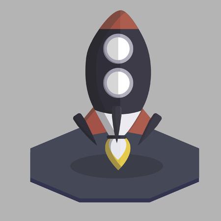 Vector of a rocket