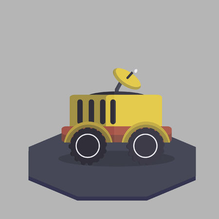 rover: Vector of a lunar rover Illustration