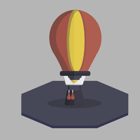 Vector of a hot air balloon