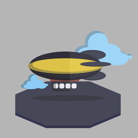 blimp: Vector de un dirigible