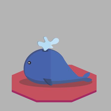 ballena azul: Vector de una ballena azul Vectores