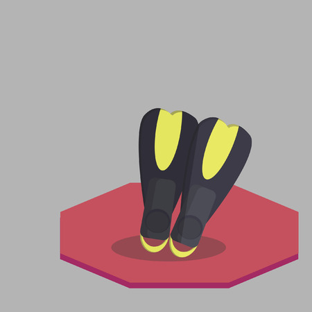 flippers: Scuba diving flippers Illustration