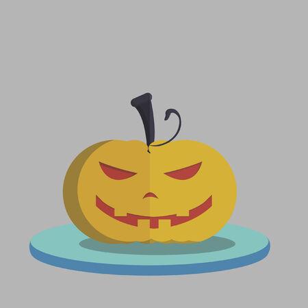 Vector of a Halloween pumpkin Illustration