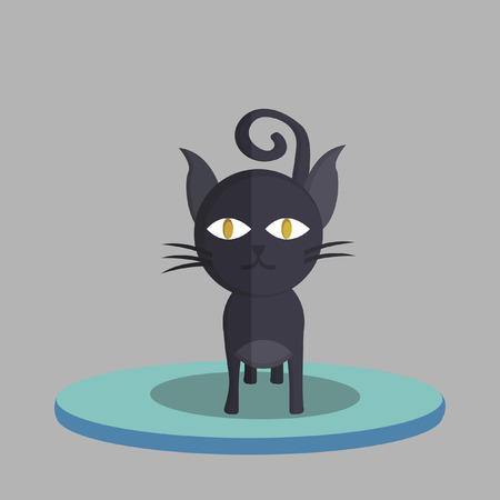 黒い猫のベクトル  イラスト・ベクター素材