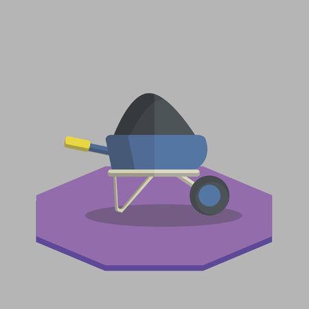 Vector of wheelbarrel