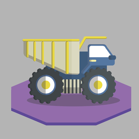 Vector of a lorry truck