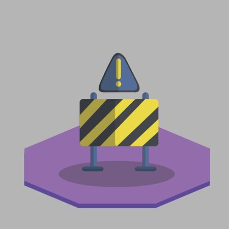 dangerous construction: Road warning signage Illustration