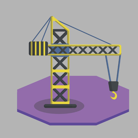 Vector of a crane Ilustrace