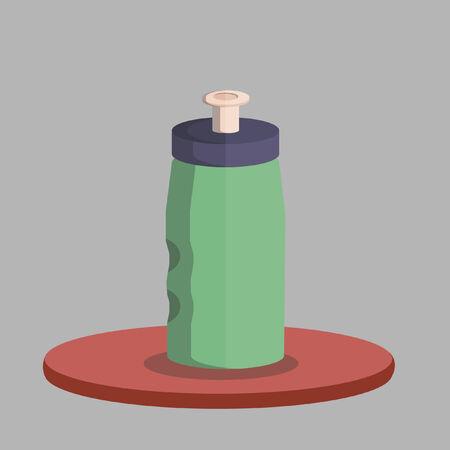 Vector of a water bottle Ilustração