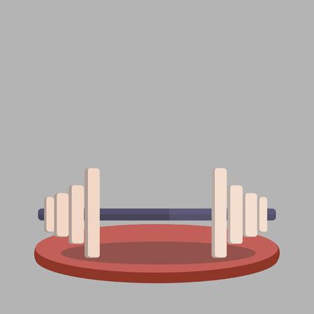 Vector of a weight lifting bar