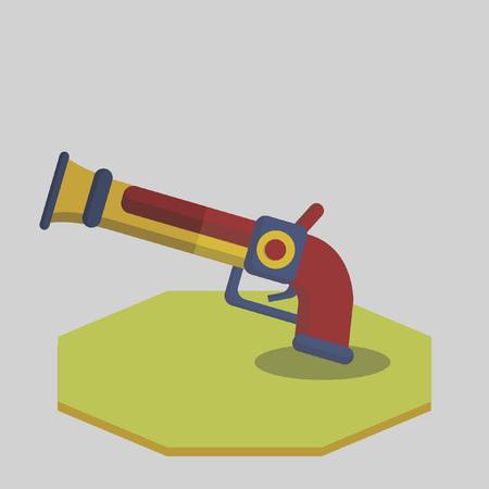 Vector of a pirate gun Иллюстрация