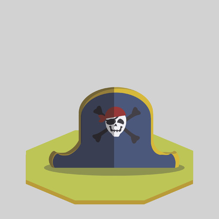 pirate crew: Vector of a pirate hat Illustration