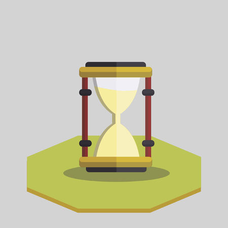 Vector of an hour glass
