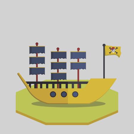 Vector of a pirate ship Vector
