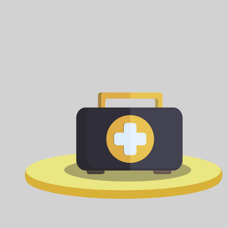 Vector of a first aid box Иллюстрация