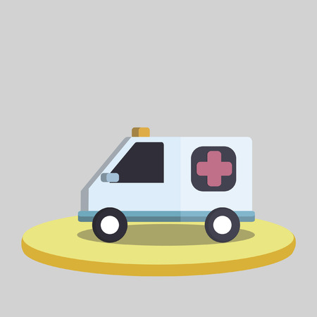 Vector of an ambulance