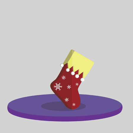Vector of a Christmas stocking
