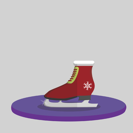 Vector of a Christmas skating shoe