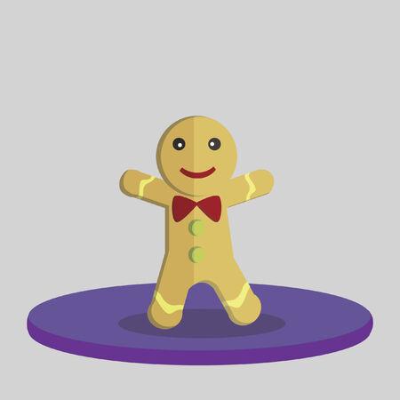 gingerbread man: Vector of a gingerbread man Illustration