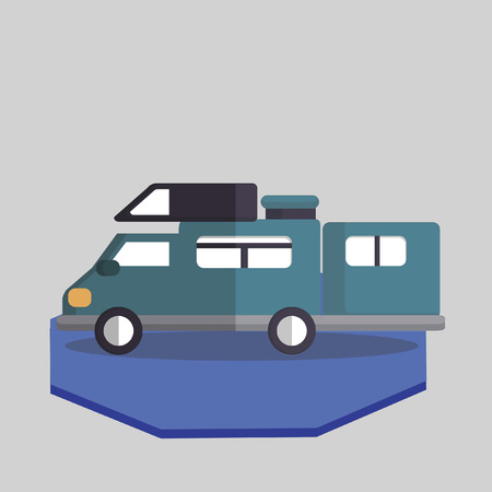 Vector of a recreational vehicle Vettoriali