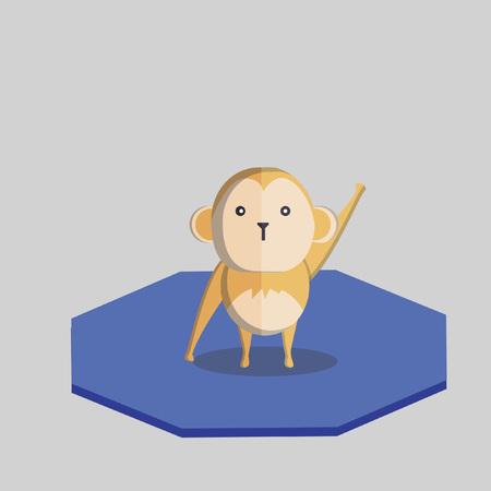 Illustration of a little monkey