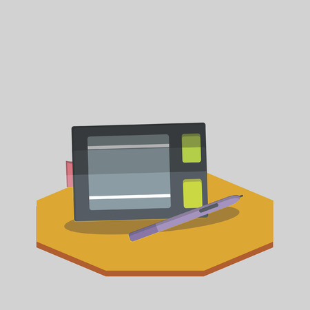 Vector of drawing tablet