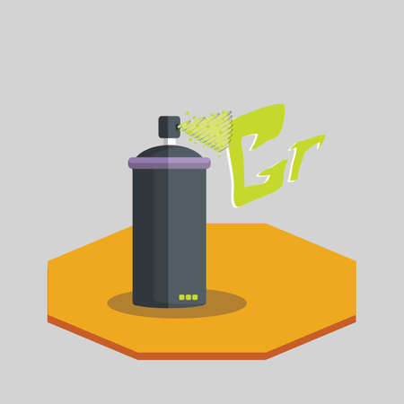 Vector of a graffiti spray can