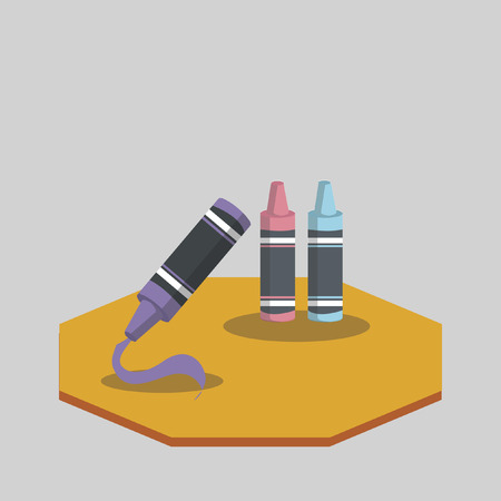 Vector of colorful crayons