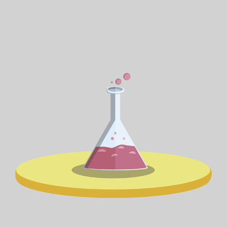 Vector of a laboratory flask Ilustracja