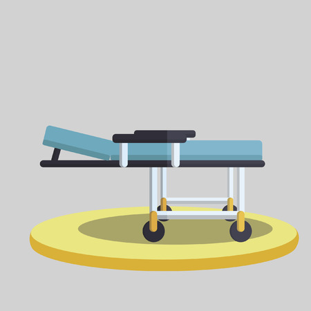 adjustable: Vector of a hospital stretcher