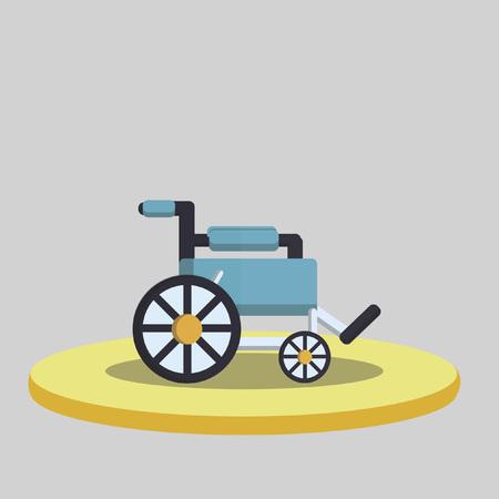 Vector of a wheelchair
