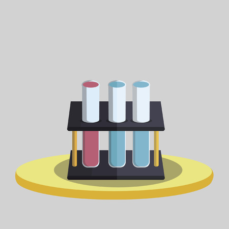test tubes: Vector of laboratory test tubes