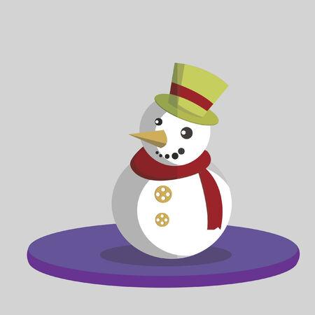 Vector of a snowman Illustration
