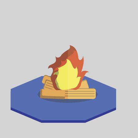 Vector of a campfire