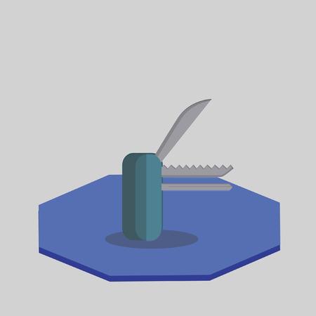 Illustration of a multipurpose knife
