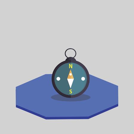 Vector van een kompas Stock Illustratie