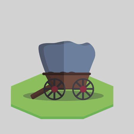 Illustration of an antique wagon