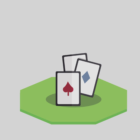 Illustration of gambling cards Çizim